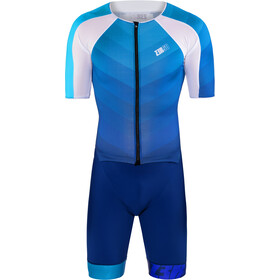 Z3R0D Racer Time Trial Trisuit Men, dark blue/atoll